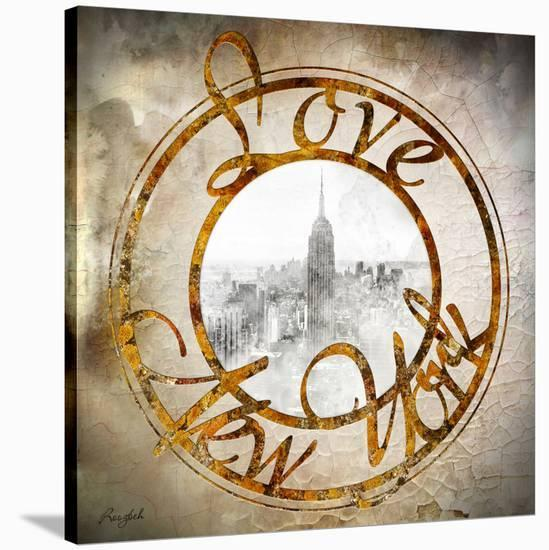 Love NY--Stretched Canvas Print