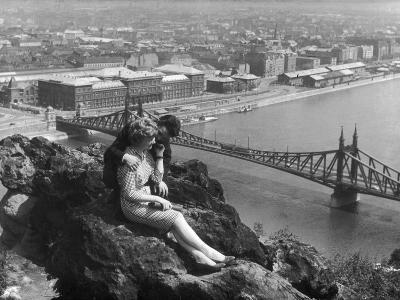 Love on the Danube--Photographic Print