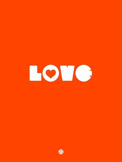 Love Orange-NaxArt-Art Print