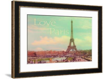 Love Paris Eiffel Tower-Cora Niele-Framed Giclee Print