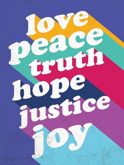 Love, Peace, Truth--Art Print