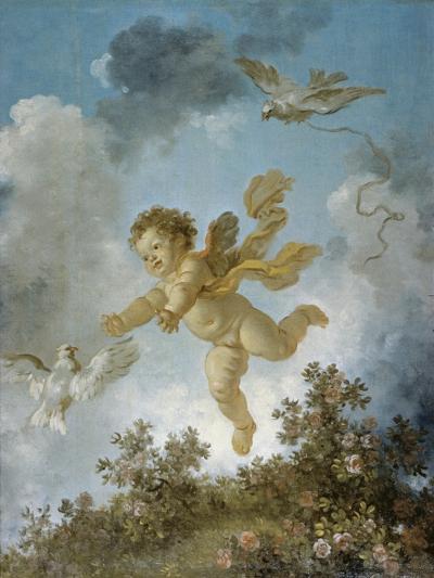 Love Reaching for a Dove-Jean-Honor? Fragonard-Giclee Print