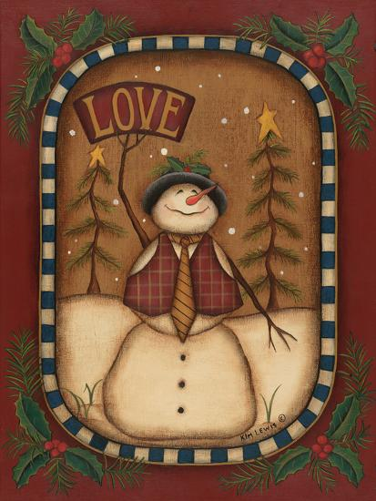 Love Snowman-Kim Lewis-Art Print