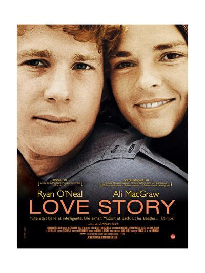Love Story, Ryan O'Neal, Ali Macgraw, French Poster Art, 1970--Giclee Print