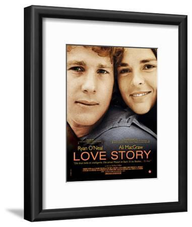 Love Story, Ryan O'Neal, Ali Macgraw, French Poster Art, 1970
