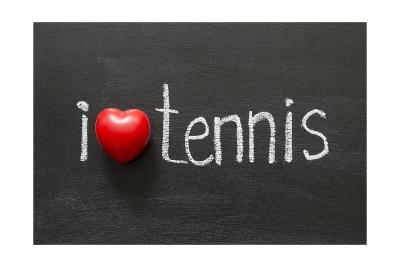 Love Tennis-Yury Zap-Art Print
