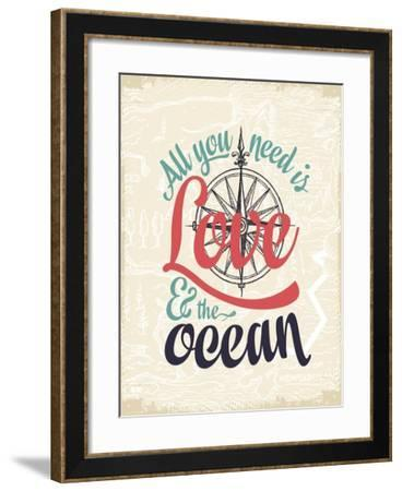 Love & the Ocean-The Saturday Evening Post-Framed Giclee Print