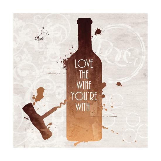 Love the Wine-Anna Quach-Art Print