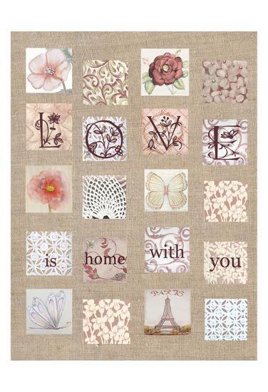 Love Tiles-Lorraine Rossi-Art Print