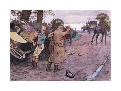 """Love to Tuppy, Won't You Get Up Behind?-""""Drive on Boys"""" Replied Jingle-Cecil Aldin-Giclee Print"""