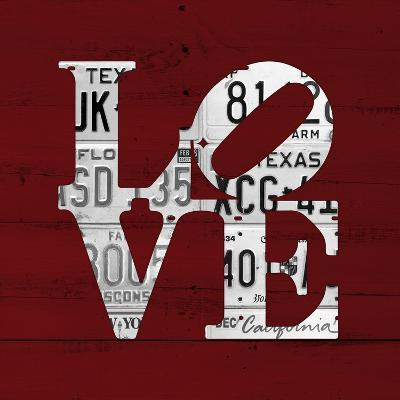Love Word Art License Plates-Design Turnpike-Giclee Print