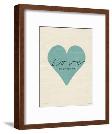 Love You More Heart-Jo Moulton-Framed Art Print