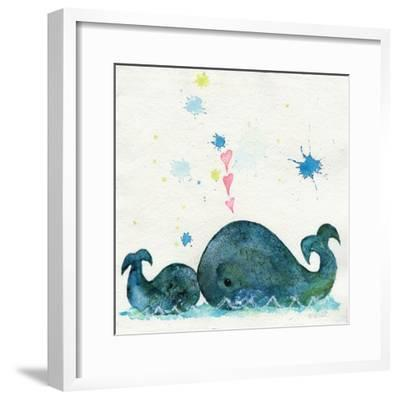 Love You Whales-Wyanne-Framed Giclee Print