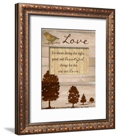 Love-Taylor Greene-Framed Art Print