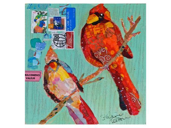 Lovebirds Cardinals--Art Print
