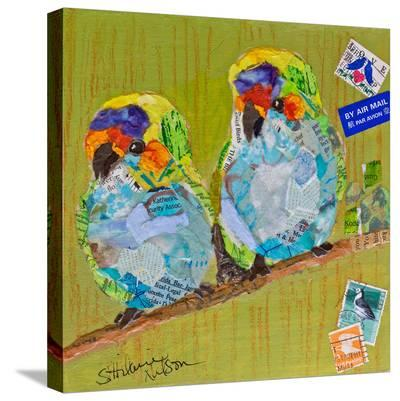 Lovebirds--Stretched Canvas Print