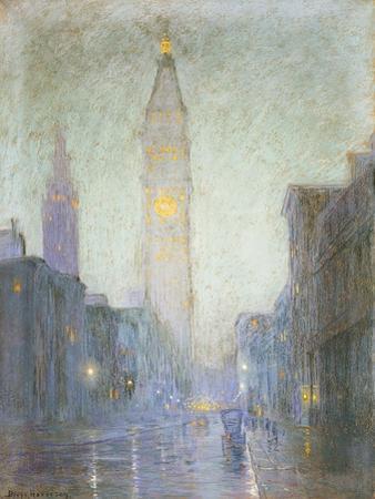 Madison Avenue at Twilight by Lovell Birge Harrison