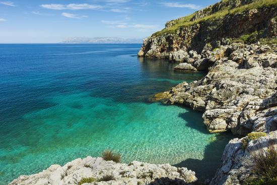 Lovely Limestone Cove at Zingaro Nature Reserve Near Scopello-Rob Francis-Photographic Print