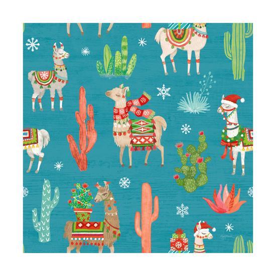 Lovely Llamas Christmas Step 06B-Mary Urban-Art Print
