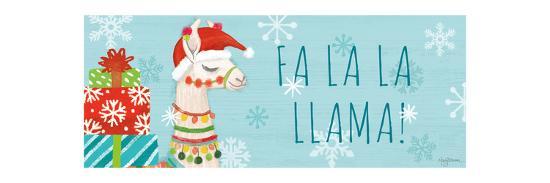 Lovely Llamas Christmas VI-Mary Urban-Art Print
