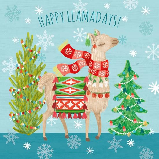 Lovely Llamas Christmas XI-Mary Urban-Art Print