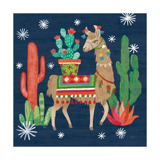 Lovely Llamas III Christmas-Mary Urban-Art Print
