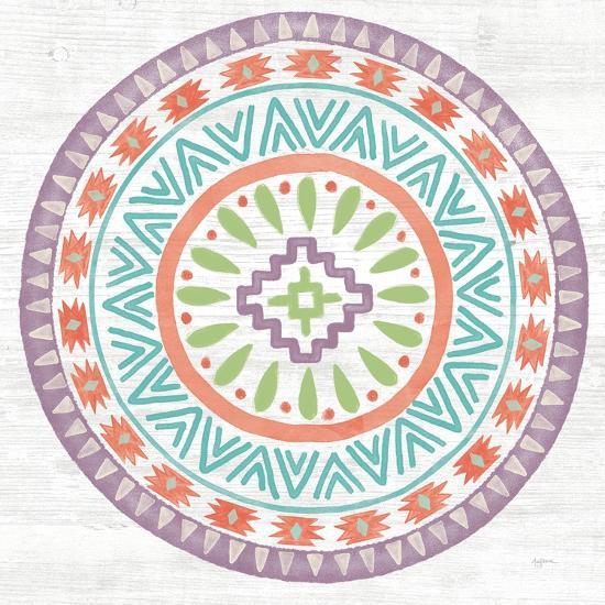 Lovely Llamas Mandala II-Mary Urban-Art Print
