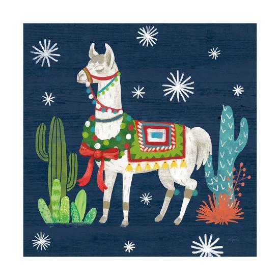 Lovely Llamas V Christmas-Mary Urban-Art Print