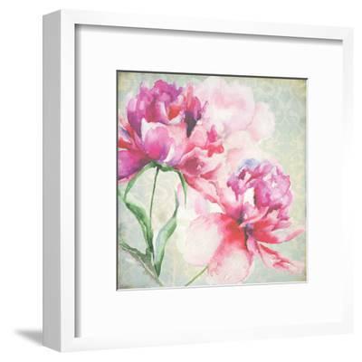 Lovely Peony Blossoms-R. Jersova-Framed Art Print
