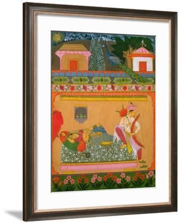 Lovers at Daybreak of the Musical Mode 'Raga Vibhasa'--Framed Giclee Print