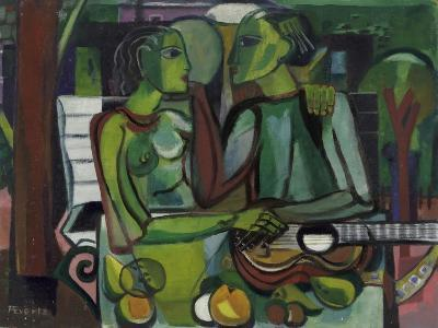 Lovers in a Garden, C.1945-50-Anneliese Everts-Giclee Print