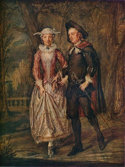 'Lovers in a Park', 1745 (1931)-Marcellus Laroon the Younger-Giclee Print