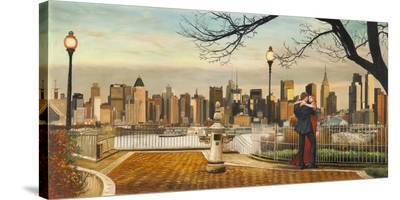 Lovers in New York-Pierre Benson-Stretched Canvas Print