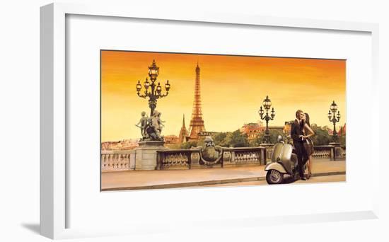 Lovers in Paris-Edoardo Rovere-Framed Giclee Print