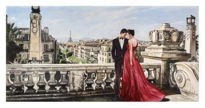 Lovers in Paris-Pierre Benson-Giclee Print