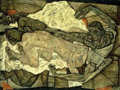 Lovers (Man and Woman I); Liebespaar (Mann Und Frau I), 1914-Egon Schiele-Giclee Print