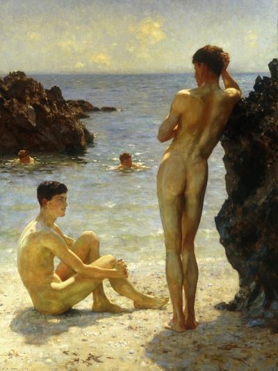 Lovers of the Sun-Henry Scott Tuke-Giclee Print
