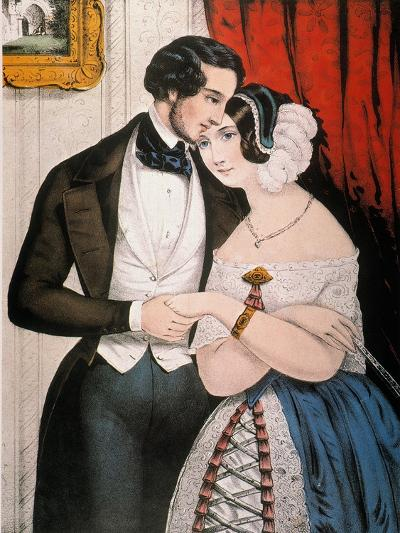 Lovers Reconciliation-Currier & Ives-Giclee Print