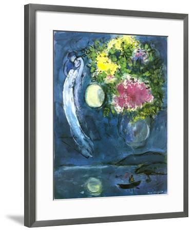 Lovers with Bouquet, c.1949-Marc Chagall-Framed Art Print