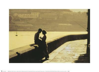 Lovers-Pezhman-Art Print