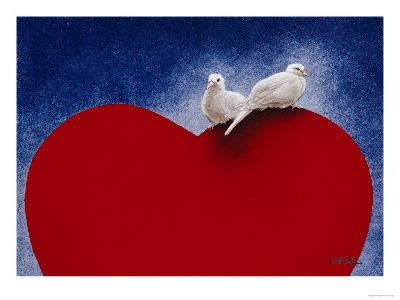 Lovey Dovey-Will Bullas-Premium Giclee Print
