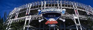 Low Angle View of a Baseball Stadium, Progressive Field, Cleveland, Ohio, Usa