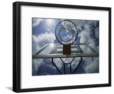 Low Angle View of a Basketball Net