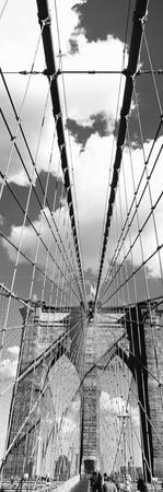 Low Angle View of a Bridge, Brooklyn Bridge, Manhattan, New York City, New York State, USA