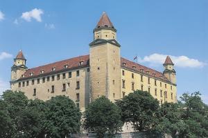 Low Angle View of a Castle, Bratislava, Slovakia