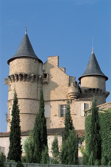 Low Angle View of a Castle, Chateau De Margon, Languedoc-Rousillon, France--Photographic Print