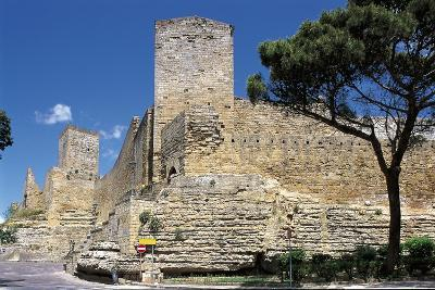 Low Angle View of a Castle, Enna, Sicily, Italy--Photographic Print