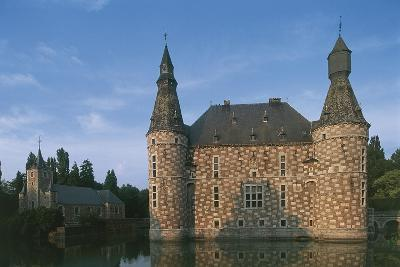 Low Angle View of a Castle, Jehay Castle, Wallonia, Belgium--Photographic Print