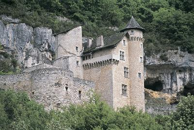 Low Angle View of a Castle, Larroque-Toirac, Midi-Pyrenees, France--Photographic Print
