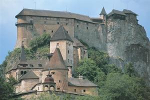 Low Angle View of a Castle, Orava Castle, Oravsky Podzamok, Slovakia
